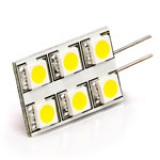 G4-xWHP6-RAC:  White 6HP-LED Rectangular G4 Lamp