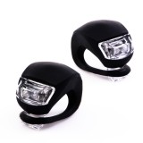 SG-F02-BLK: 2 LED Silicone Bicycle Light - Pair